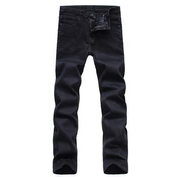 Men's Classic Black Jeans Elastic Slim 5