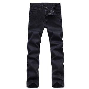Image 5 - Mens Classic Black Jeans Elastic Slim Fit Denim Jean Trousers Male Plus Size 40 42 44 46 Business Casual Pants Brand