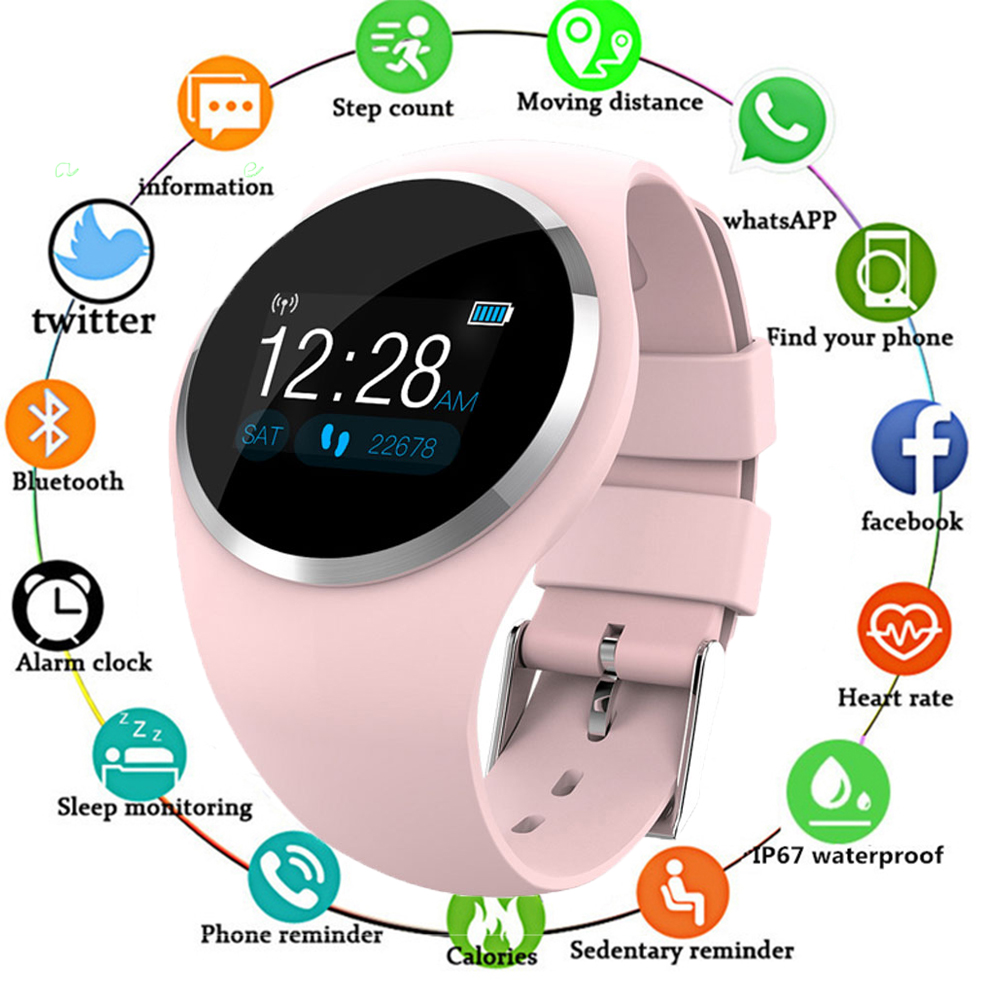 Lady Girl Bluetooth Smart Watch Fashion Women Heart Rate Monitor Fitness Tracker Smartwatch APP Support For Android IOS pk Q8 Q9 image