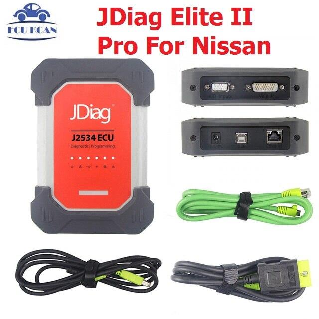 JDiag Original Elite II Pro For Nissan Auto Diagnostic Tools ECU Programming J2534 With Wifi Function Support ECU Programming
