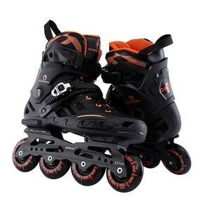 Новые профессиональные роликовые ботинки для катания на коньках для взрослых женщин и мужчин, Регулируемые моющиеся полиуретановые диски ...