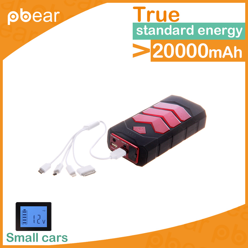 22880mAh Mini Portable Car Jump Starter Emergency Start 12V Power Bank Battery Charger for Car Iphone Samsung Digital Cameras free shipping new design lipstick 3000mah mini luxury portable battery external bank power bateria charger for iphone samsung