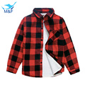M&F 2016 New Girl's Fashion Jackets Long Sleeve Children Outerwear Plaid Warm Casual Autumn Coats For Infant Girls