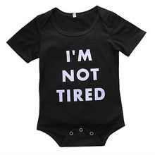 Baby Boy Infant Cotton Bodysuit Baby Girl Black Outfits Hot Fashion Newborn Toddler Letter Playsuit