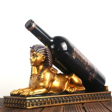 Egyptian Pharaoh Sphinx Wine Rack Best Wine Bottle Holder Wine Stand Home Decoration  Accessories Bar Decor Resin Wine Rack fashion quality rose household wine rack baijiu home decoration iron wine holder