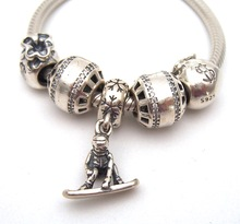 SSVWG291 5X 100% Authenticity S925 Sterling Silver Beads SilverBead Fit European Charms Bracelet diy jewelry Lampwork