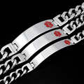 Men Women Medical Alert Heart ID Bracelet & Bangle 316L Stainless Steel Link Chain Wrist Medico Jewelry Fine Party Gift BB1425