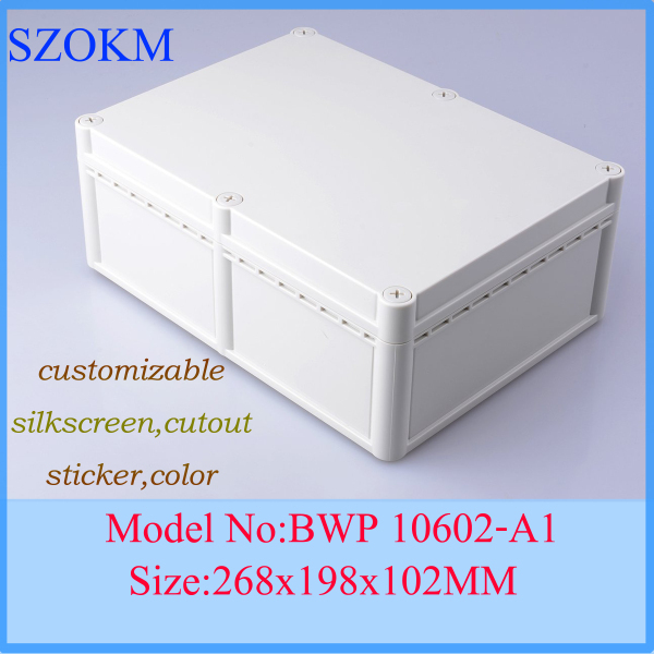 1 piece free shipping box for electrical distribution box box plastic enclosures case 268x198x102 mm 1 piece free shipping small aluminium project box enclosures for electronics case housing 12 2x63mm