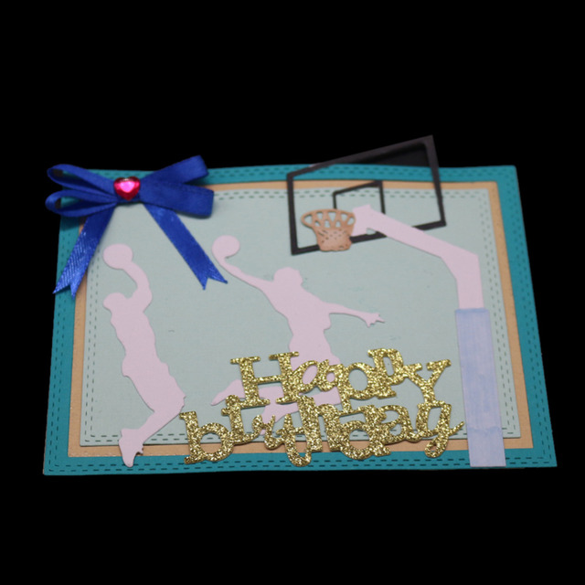 Basketball court playing basketball frame template metal cutting.
