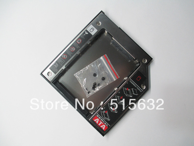 新しい 2nd HDD SSD ハードディスクドライブキャディー SATA 9.5 ミリメートル dell Alienware M15X M14X M17X|caddy sata|2nd hdddrive caddy -