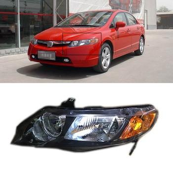 Original Replacement Chorme Housing Headlights For Honda Civic 2006-2008