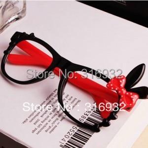 Hello rabbit ear glasses frame for Women , without lens, 5pcs/lot