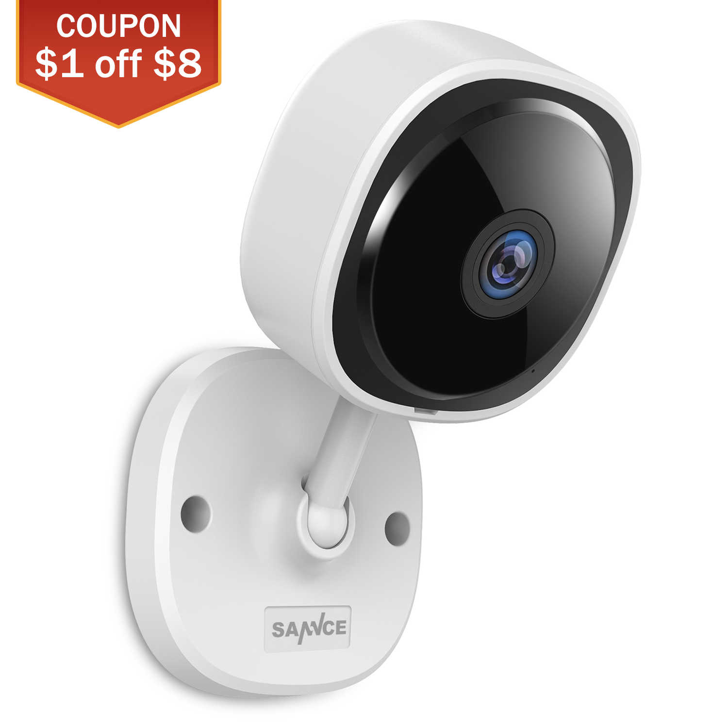 SANNCE Baby Monitor Wireless Wifi 1080P Fisheye IP Camera Mini Network Surveillance Camera Night Vision IR Cut Home Security