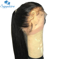 Sapphire 360 Lace Front Human Hair Wigs Straight Full Lace Human Hair Wig Pre Plucked Hairline Baby Hair 360 Lace Frontal Wigs