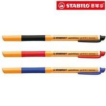 Германия Stabilo 1098 гелевая ручка крюк линия пера 0.5 мм тончайшей гладкой 4 цвета