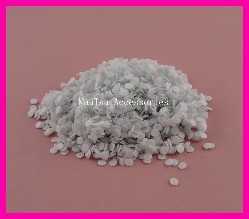 2000PCS 6mm White round felt pads appliques for DIY Hairbands accessories,6mm round felt patches,mini non-woven circles