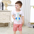 Summer Baby Boys Casual Wear,Fashion Children's Short-Sleeve Tops + Short Pants,Cotton Printed Kids Clothing (6 Months-3 Yrs)