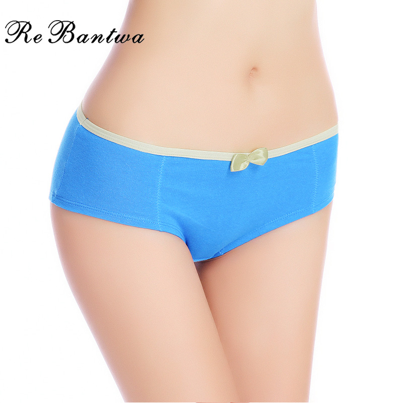 Buy Rebantwa Lot 5 pcs Girls Cute Bow Knickers Woman Cotton Underwear Ladies Sexy Panties Intimates Women New Calcinha Briefs