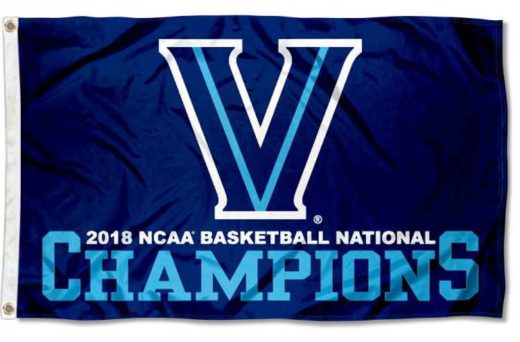 Villanova Wildcats Men's Basketball 2018 National Champions Flag 3 ' X 5 'NCAA Flag