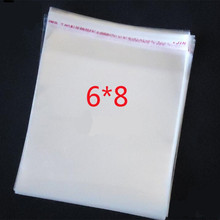 100 Pcs/Lot Self Adhesive Plastic Bag Seal /E4 Clear Resealable Cellophane/OPP/Poly Bags 8*6cm Transparent Opp