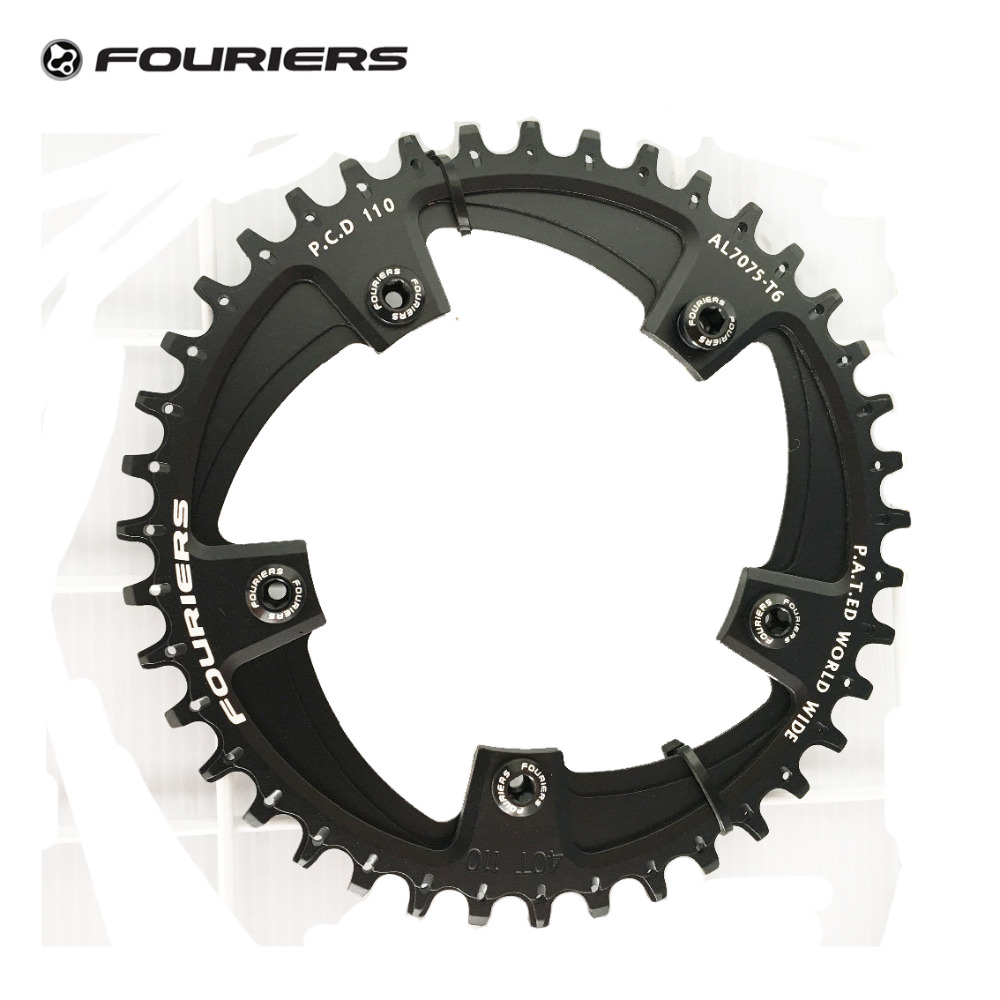 Fouriers Cyclocross Road Bike Front Chainrings Bicycle Chain Ring Narrow-wide Teeth 38T 40T 42T P.C.D B.C.D 110MM Chainwheel 1pc fouriers cr dx006 130 road bike bicycle cnc single chain ring narrow wide teeth 38t 40t 42t 5mm p c d 130mm compatible