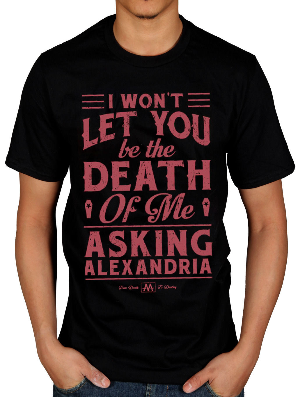 Top Quality 2018 New Brand MenS Official Mens Asking Alexandria Death of Me T-Shirt Reckless & Relentless Rock b