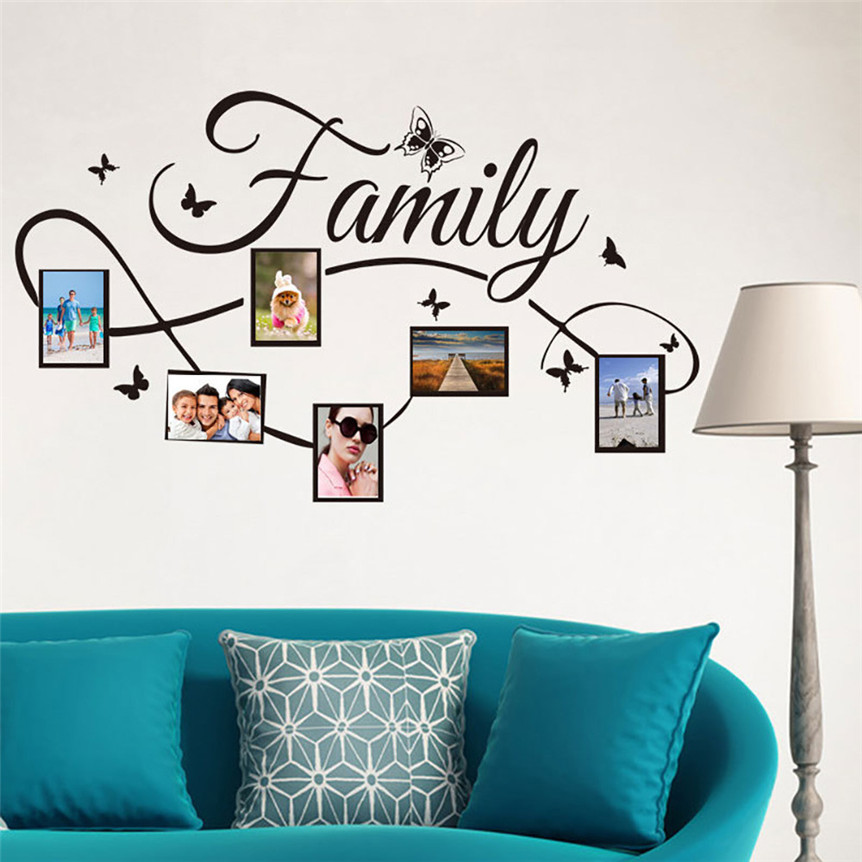 Family Photo Frame Wall Sticker DIY Wall Decal For Kids