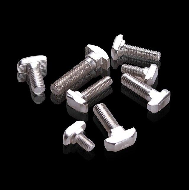 Hammer Head T Screw Bolt Fastener M5x20 for 2020 Aluminum Profile Slot 10 Accessories