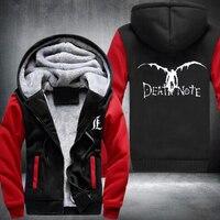 Winter Jackets Death Note Hoodie Anime Hooded Thick Zipper Cardigan Sweatshirts Costume Warm Unisex Plush Sportswear