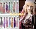 1 шт. 25 см * 100 см BJD Парики высокотемпературная Мода красочные прямые Волосы Кусок Для 1/3 1/4 1/6 BJD SD Dollfie