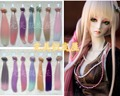 1pc 25cm *100cm BJD Wigs  High-temperature Fashion colourful straight Hair Piece For 1/3 1/4 1/6 BJD SD Dollfie
