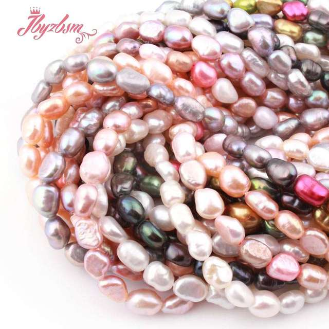"4-6x5-8mm Irregular Freeform Freshwater Pearl Natural Stone Beads For Gift Necklace Bracelet Jewelry Making 14.5"" Free Shipping"