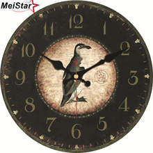 hot deal buy meistar nature scenery wall clocks flower bird design silent living study office kitchen room decorative art wall clocks gift