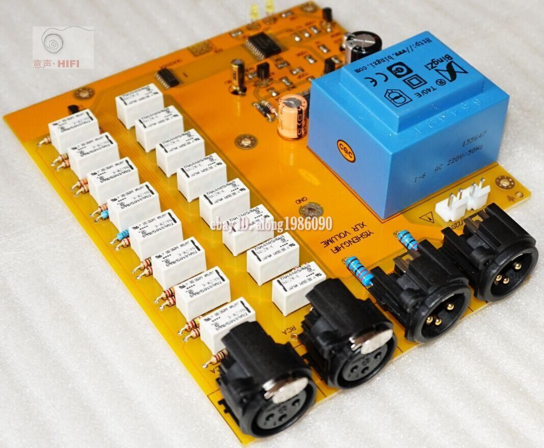 Assembled Relay Volume Control Board Balanced Potentiometer Balanced Preamp