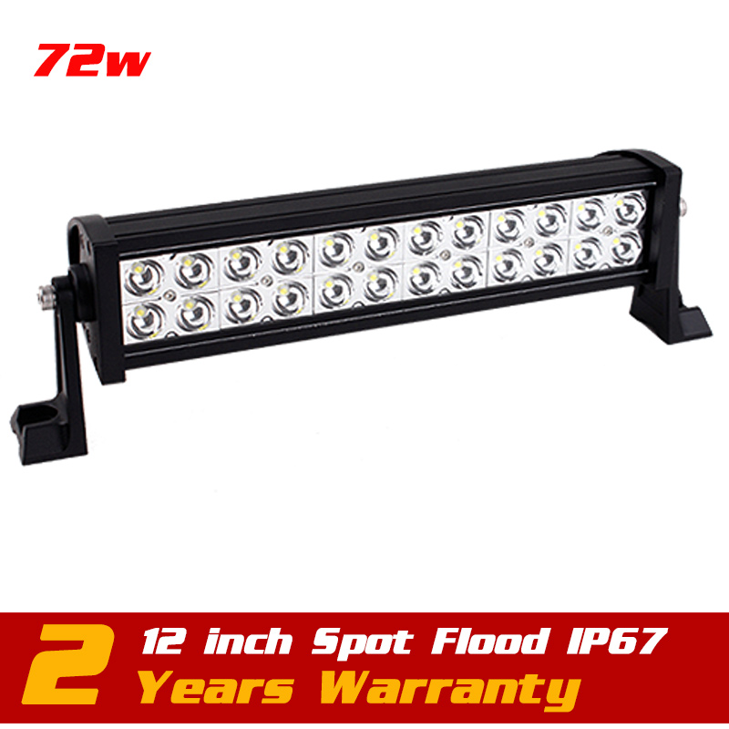 13.5inch 72w Led Work Light Bar Spot Flood IP67 for Tractor ATV Offroad 12v 24v LED Worklight External Light Save on 120w 240w spot flood combo 72w led working lights 12v 72w light bar ip67 for tractor truck trailer off roads 4x4 led work light
