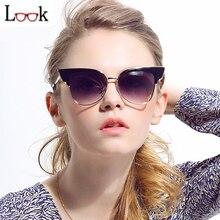 Moda 2017 Marca Estilo Vintage Cat Eye Sunglasses Women Oculos Verano Al Aire Libre Gafas de Sol Gafas de Sol Zonnebril Occhiali