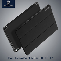 For Lenovo Tab4 10 Plus Case 10 DUX DUCIS Leather Smart Flip Cover Stand For Lenovo