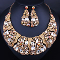New Arrival Luxury Fashion Statement Good Quality Jewelry Sets  Elegant Crystal African Beads Jewelry Sets 9828