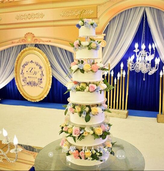 7 tiers Crystal Acrylic Round cake Stand Round cake ...