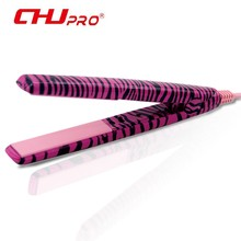 CHJPRO Brand Ceramic Electric Hair Iron For Corrugation Ceramic Comb Hair Straightener Mini Zebra Hair Straighteners Flat Iron(China)