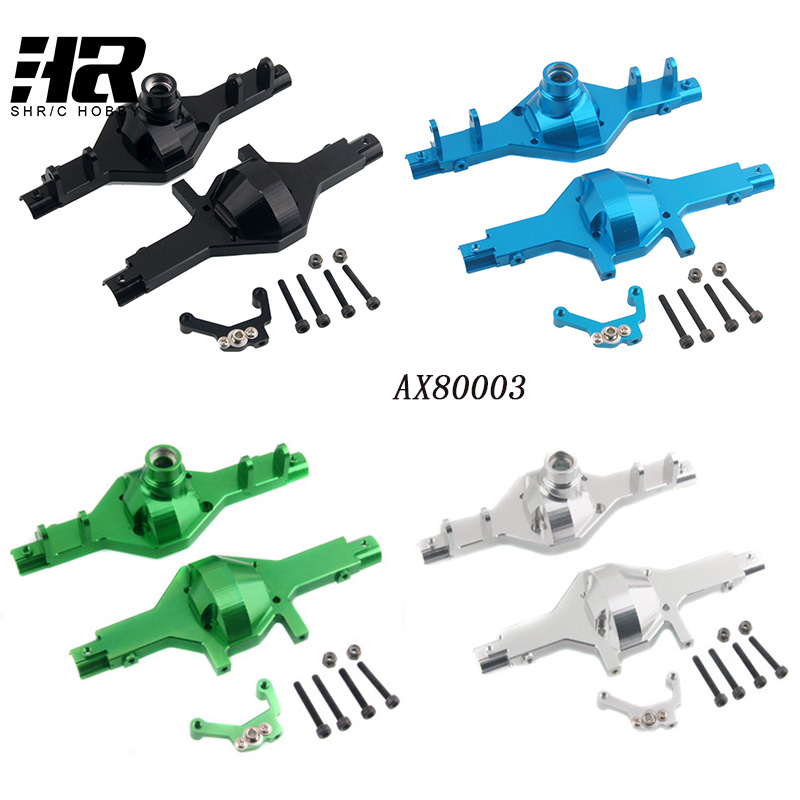 Free shipping RC car AX80003 Model Aluminum alloy 1/10 SCX10 Solid Axle Set Only Shell for axial Racing SCX10 AX80003 Metal цена