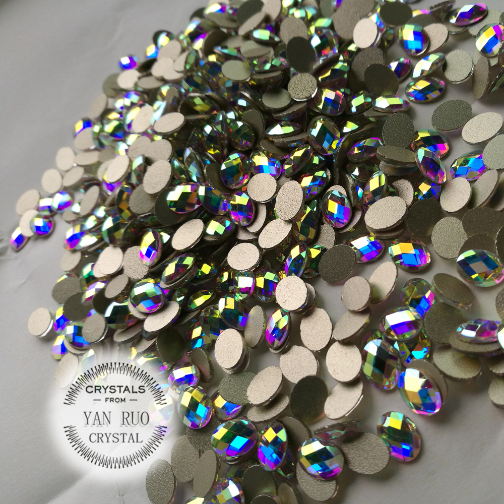 Crystal Glitter 4 * 6mm, 6 * 8mm AB Crystal Flat Flight Back Nail Art - Մանիկյուր - Լուսանկար 3