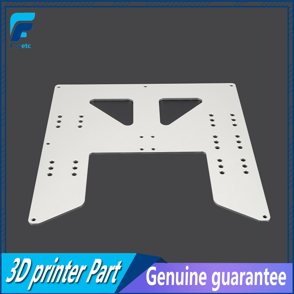 Prusa I3 Anet A8 A6 3D Printer Upgrade Y Carriage Anodized Aluminum Plate For A8 Hotbed Support For Prusa I3 Anet A8 3D Printers anet update version controller board mother board mainboard control switch for anet a6 a8 3d desktop printer reprap prusa i3