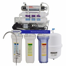 Under Sink 7-Stage Alkaline Ultraviolet Reverse Osmosis Water Filtration System,Alkaline Purifier with 6W UV Sterilizer - 75GPD цена и фото