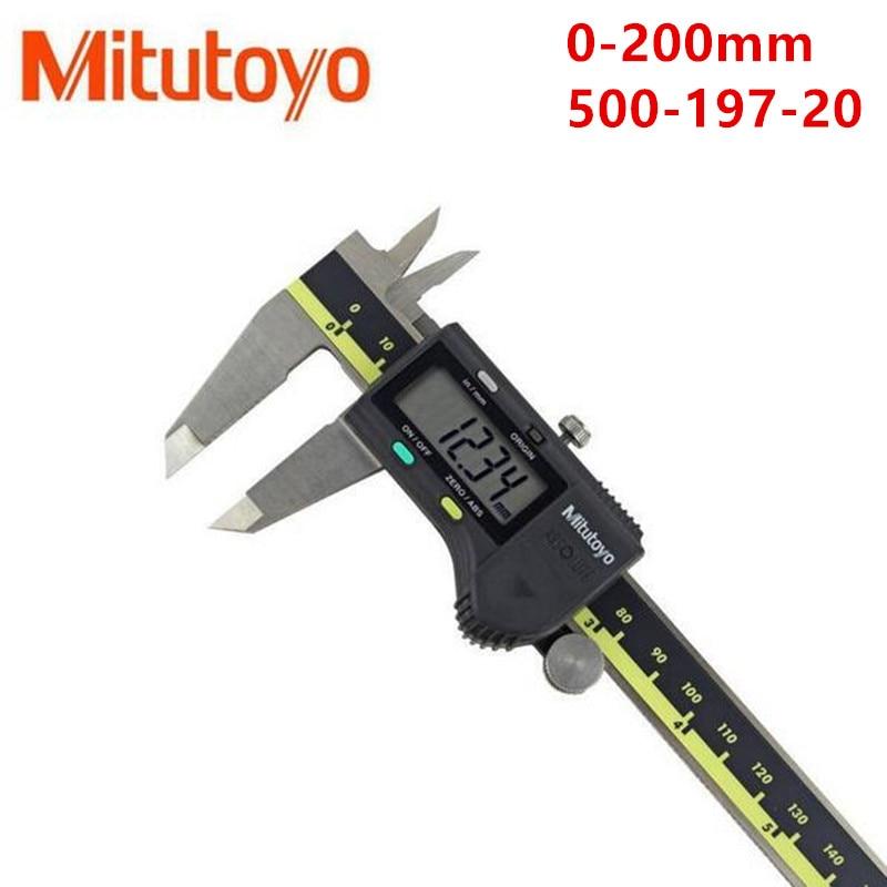 1 pz Mitutoyo calibro Digitale Vernier Pinze 0-150 0-300 0-200mm LCD 500-196-20Calipers Micrometro Elettronico misura In Acciaio Inossidabile