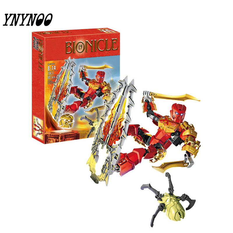 (YNYNOO)2016 new hot sale Bionicle tahu master of fire XZS 708-3 Building Block Toys Action compatible Legoingly цена
