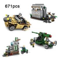 4sets/lot Army Series ww2 german military soldiers aircraft gun,Amphibious off road vehicle,Bunker Building Blocks Toys Gifts