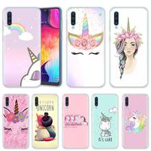 My Unicorn Girl Case for Samsung A50 A70 A60 A40 A30 A20 A20e A10 M30 M20 M10 A7 A9 2018 Silicone TPU Luxury Phone Cover Coque(China)