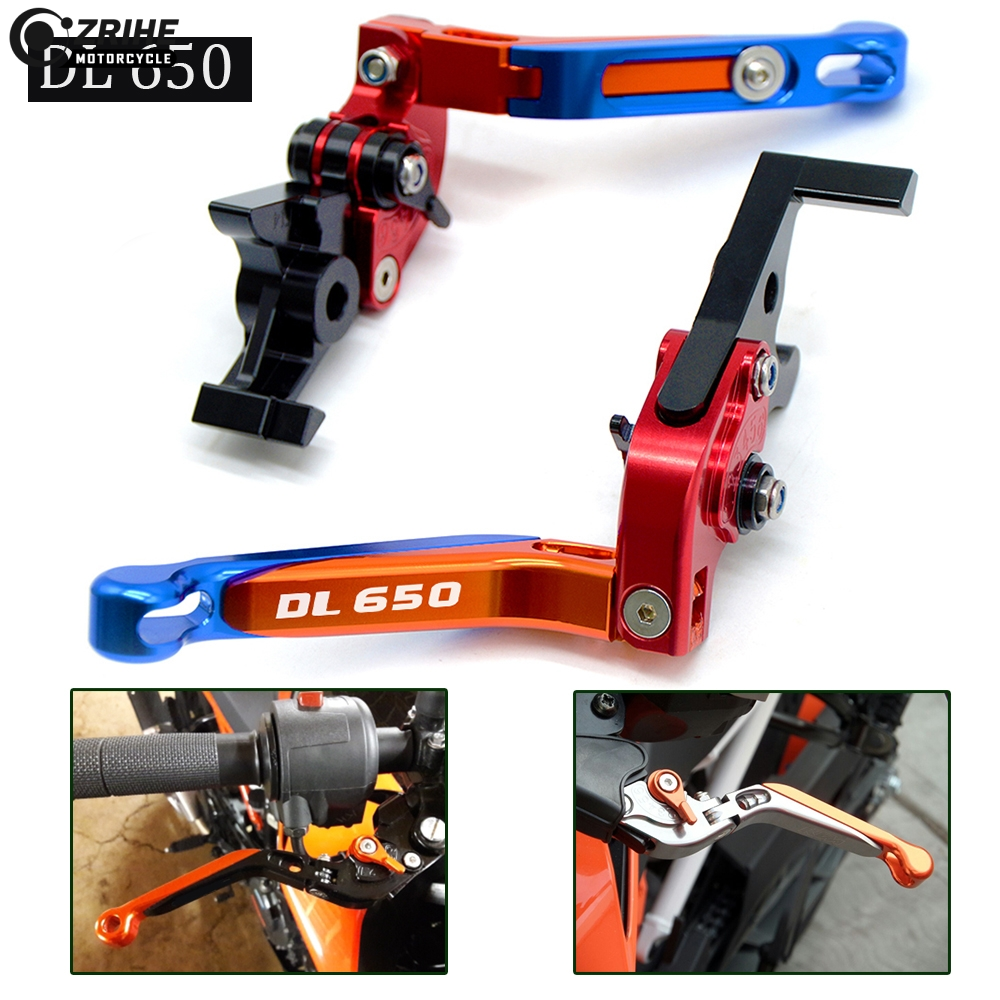 16 colors Motorcycle Accessories CNC Motorcycle Adjustable Folding Brake Clutch Lever For suzuki DL650 V STROM