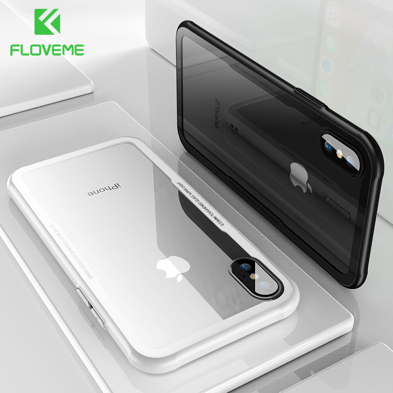 finest selection f90ae 8ca36 US $3.99 20% OFF FLOVEME Tempered Glass Phone Case For iPhone X Xs Max  Transparent Protective Glass Cases For iPhone Xs XR X Cover Coque  Capinhas-in ...